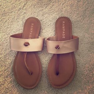 Rampage rose gold size 6.5 sandals